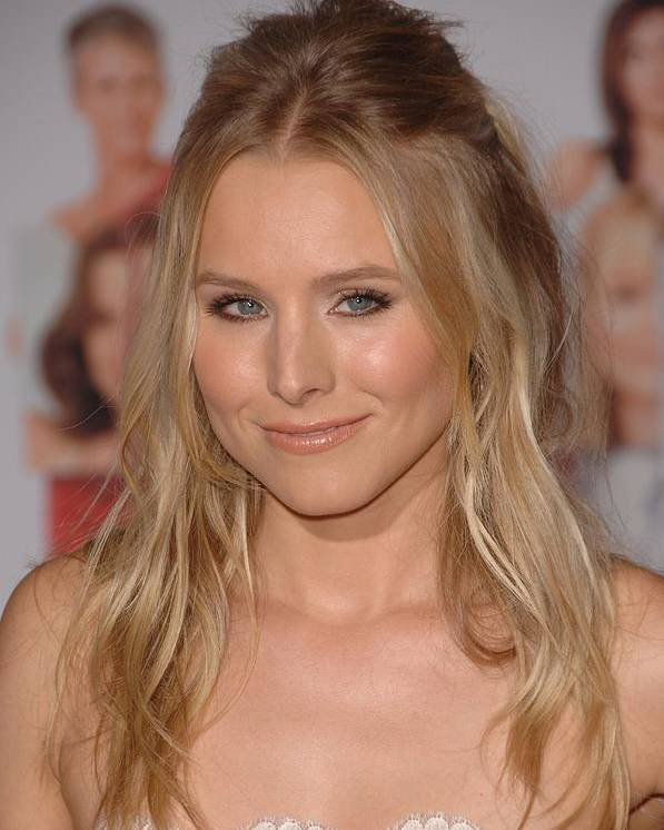 Kristen Bell Poster featuring the photograph Kristen Bell At Arrivals For You Again by Everett