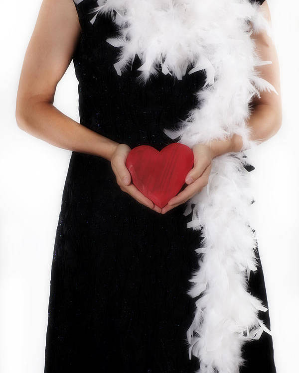Female Poster featuring the photograph Lady With Heart by Joana Kruse