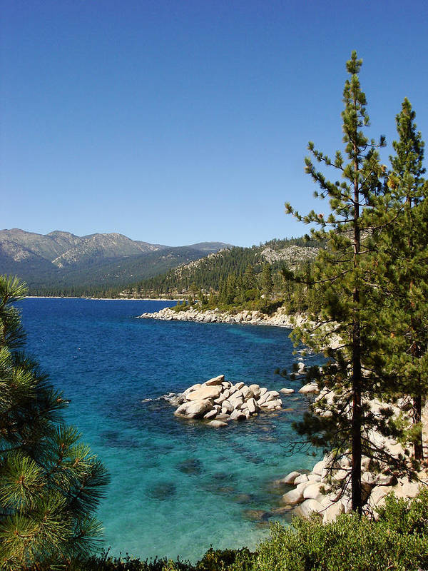 Lake Tahoe Poster featuring the photograph Lake Tahoe Shoreline by Scott McGuire