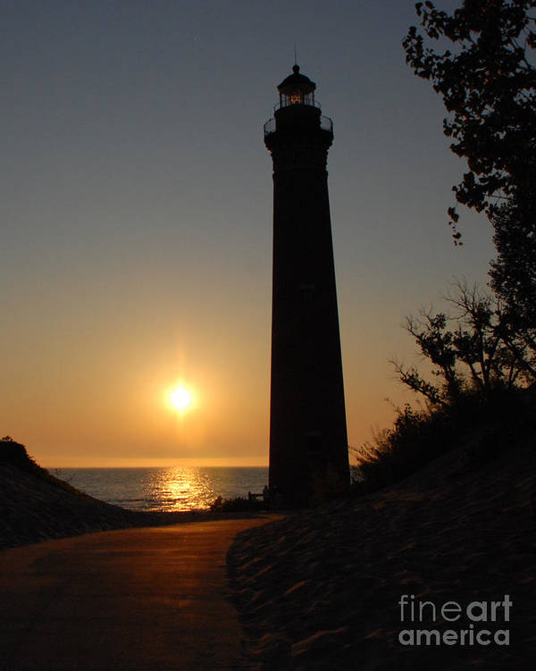 Lighthouse Poster featuring the photograph Little Sable Point Lighthouse by Grace Grogan
