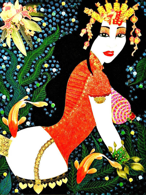 Asian Poster featuring the painting Ma Belle Salope Chinoise No.15 by Dulcie Dee