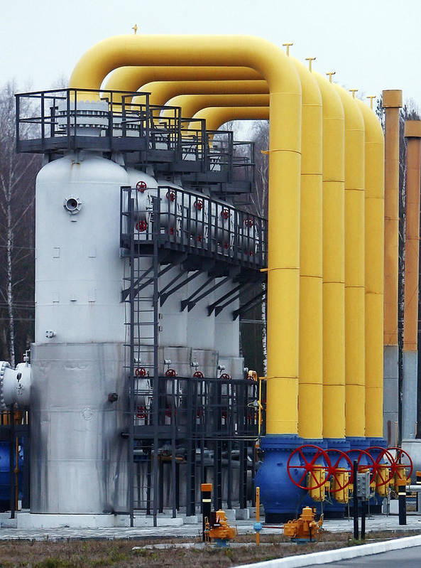 Structure Poster featuring the photograph Natural Gas Compressor Station by Ria Novosti