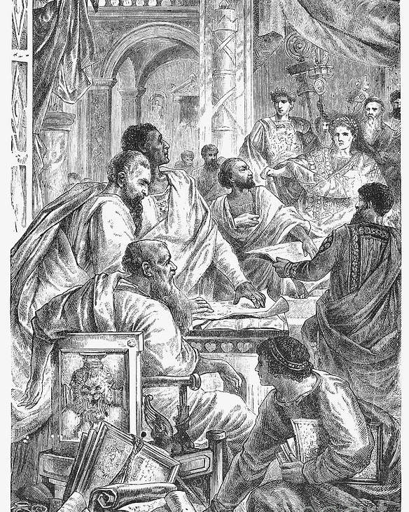 325 Poster featuring the photograph Nicaea Council, 325 A.d by Granger