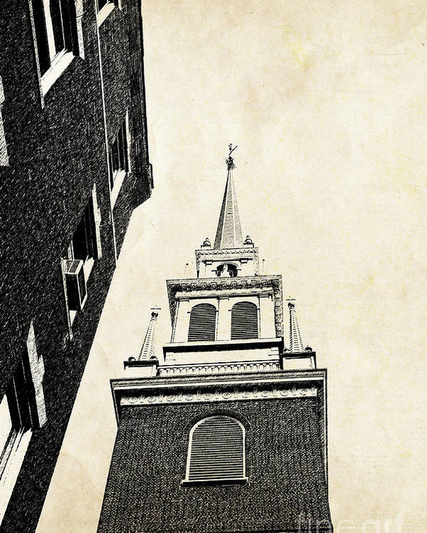 House Poster featuring the photograph Old North Church In Boston by Elena Elisseeva