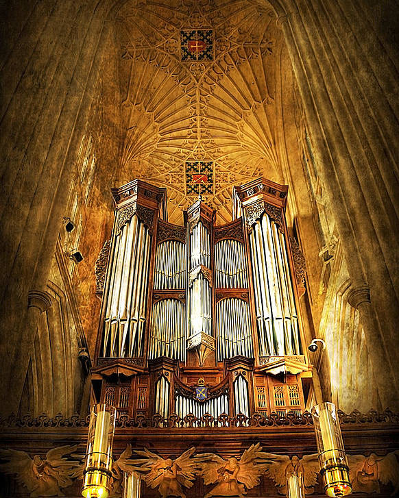 Abbey Poster featuring the photograph Organ by Svetlana Sewell