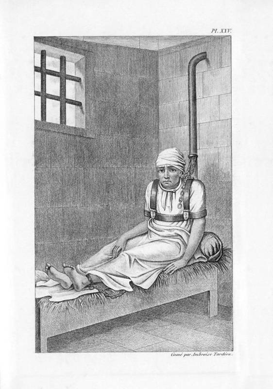 Human Poster featuring the photograph Psychiatric Patient, 19th Century by King's College London
