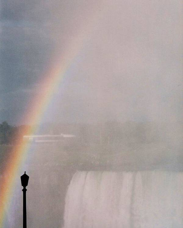 Waterfall Poster featuring the photograph Rainbow Falls by Pharris Art