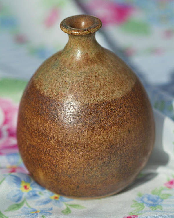 John Regis Tuska Poster featuring the photograph Rare John Regis Tuska Pottery Vase by Kathy Clark