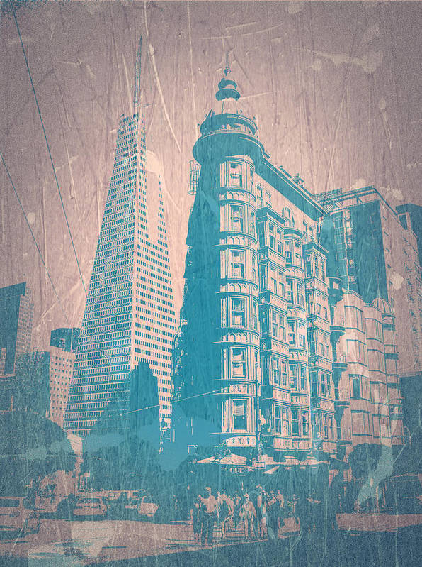 San Francisco Poster featuring the photograph San Fransisco by Naxart Studio