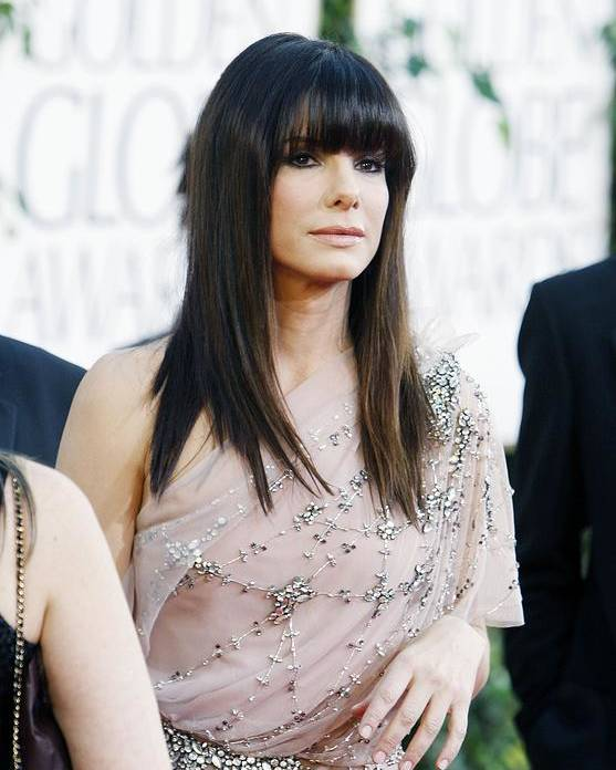 Sandra Bullock Poster featuring the photograph Sandra Bullock Wearing A Jenny Packham by Everett