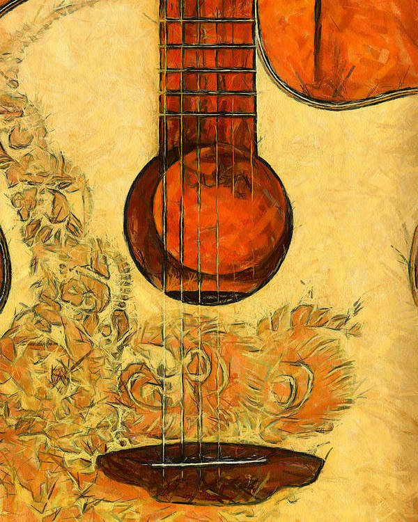 Guitar Poster featuring the photograph Six-string Acoustic II by Brian Davis