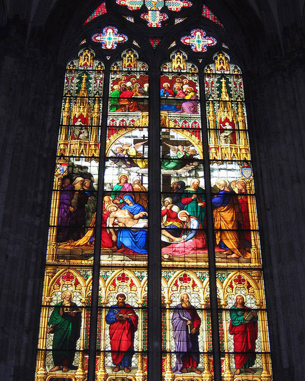 Germany Poster featuring the photograph Stained Glass Window by Suhas Tavkar