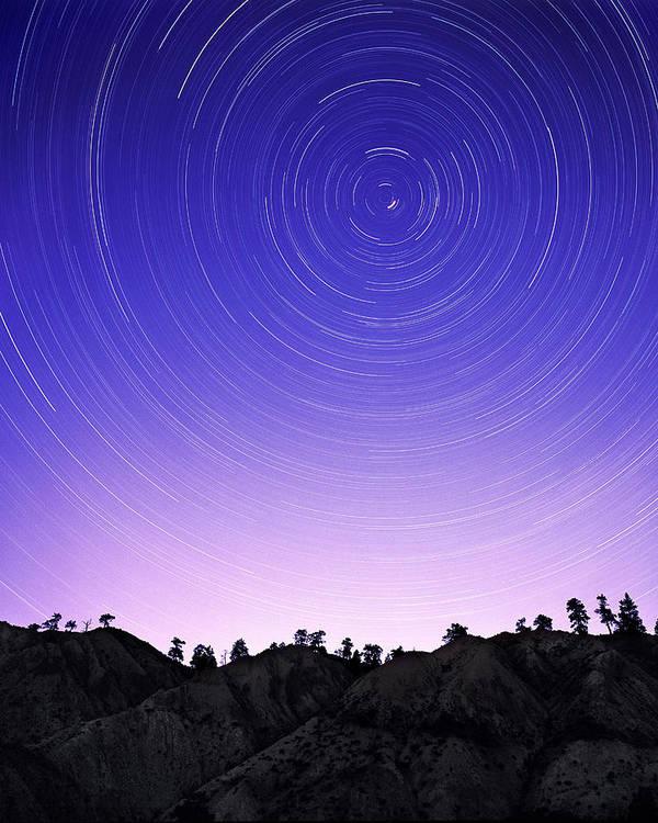 Polaris Poster featuring the photograph Star Trails by Kaj R. Svensson