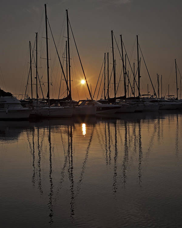 Boats Poster featuring the photograph Sunset by Joana Kruse