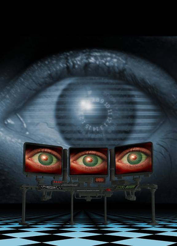Equipment Poster featuring the photograph Surveillance, Conceptual Image by Victor Habbick Visions