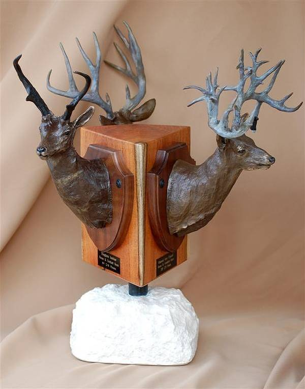 Antelope Poster featuring the sculpture Texas Trophies by J P Childress