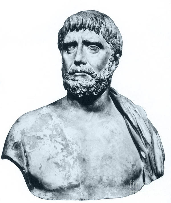 Science Poster featuring the photograph Thales, Ancient Greek Philosopher by Photo Researchers