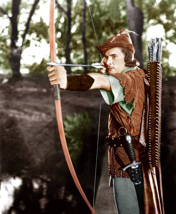 1930s Movies Poster featuring the photograph The Adventures Of Robin Hood, Errol by Everett