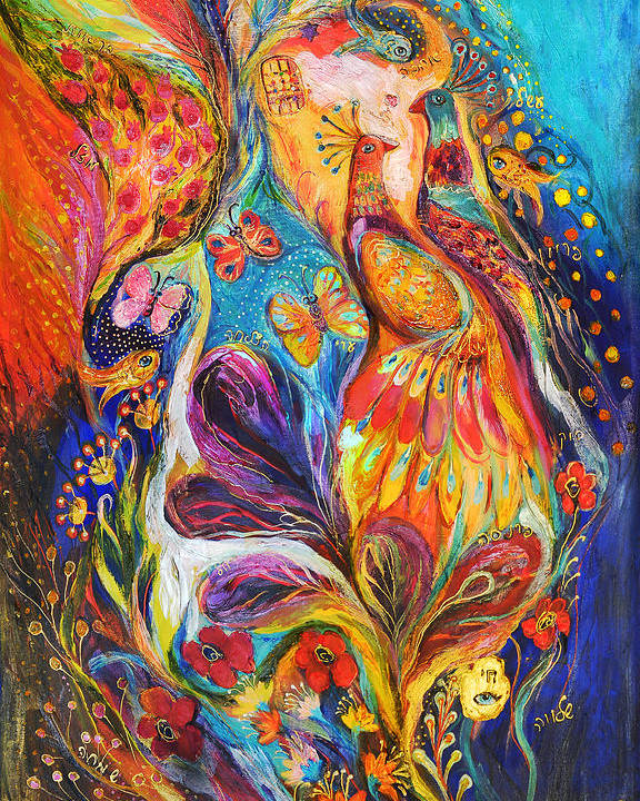 Original Poster featuring the painting The Dance Of Butterflies by Elena Kotliarker
