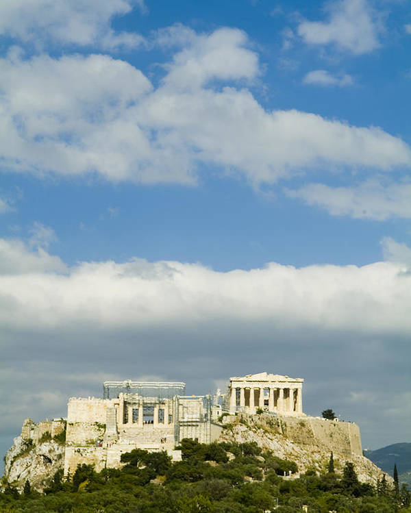 Europe Poster featuring the photograph The Parthenon On The Acropolis by Richard Nowitz