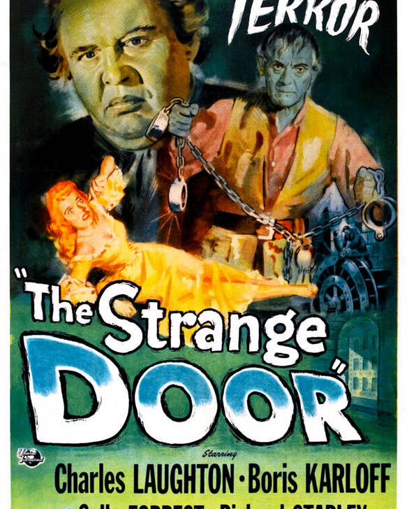1950s Poster Art Poster featuring the photograph The Strange Door, Charles Laughton by Everett
