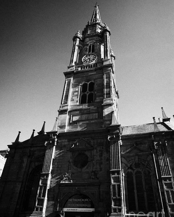 The Poster featuring the photograph The Tron Church Edinburgh Scotland Uk United Kingdom by Joe Fox
