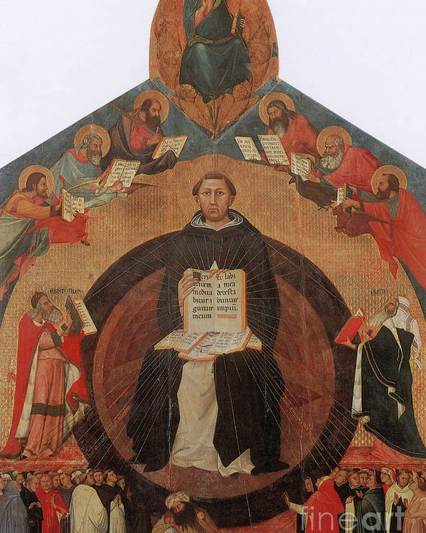 History Poster featuring the photograph Thomas Aquinas, Italian Philosopher by Photo Researchers