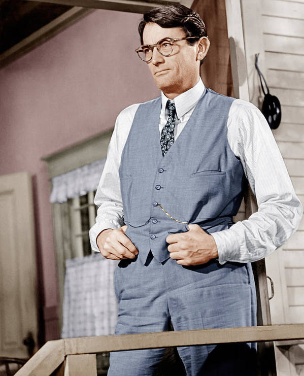 1960s Portraits Poster featuring the photograph To Kill A Mockingbird, Gregory Peck by Everett