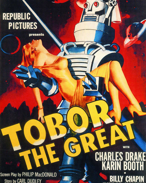 1950s Poster featuring the photograph Tobor The Great, 1954 by Everett