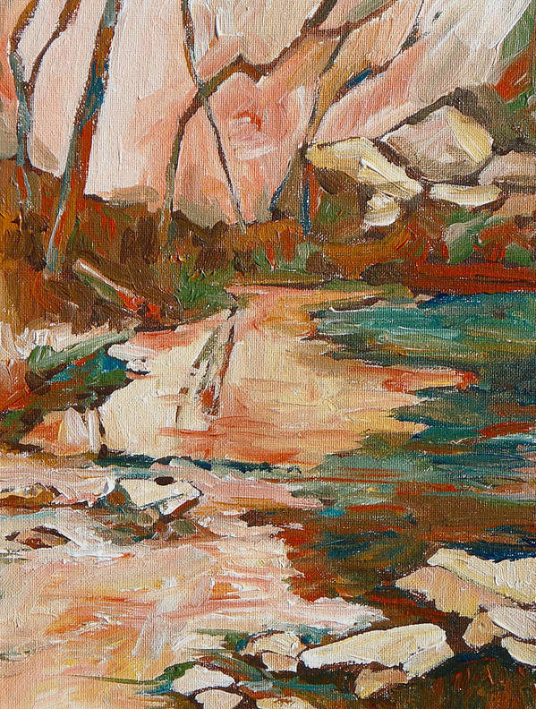 Sedona Poster featuring the painting West Fork by Sandy Tracey