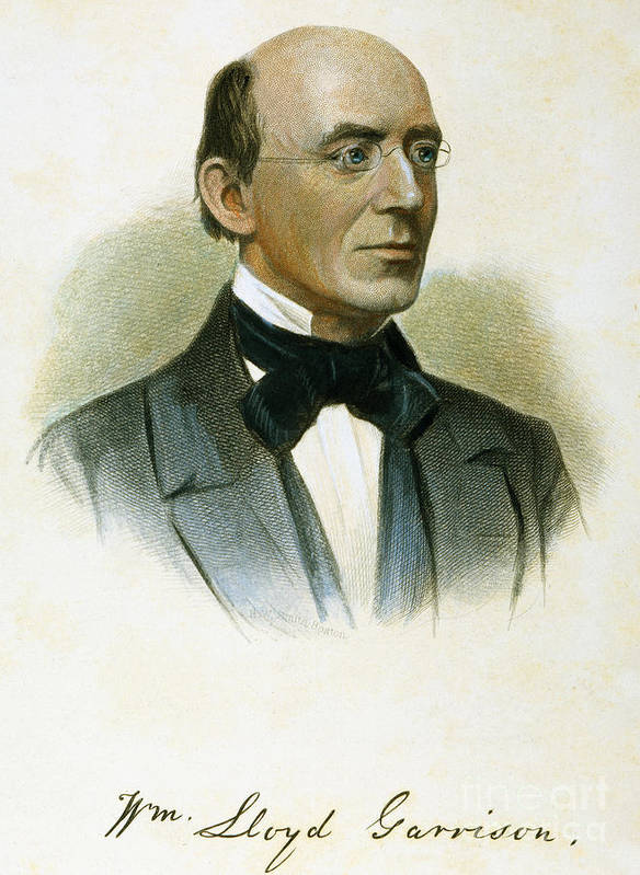 19th Century Poster featuring the photograph William Lloyd Garrison by Granger