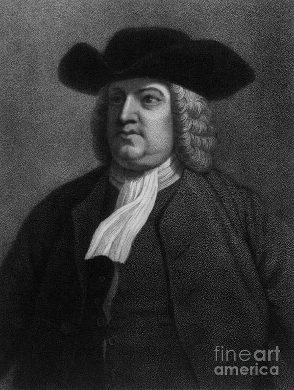 History Poster featuring the photograph William Penn, Founder Of Pennsylvania by Photo Researchers