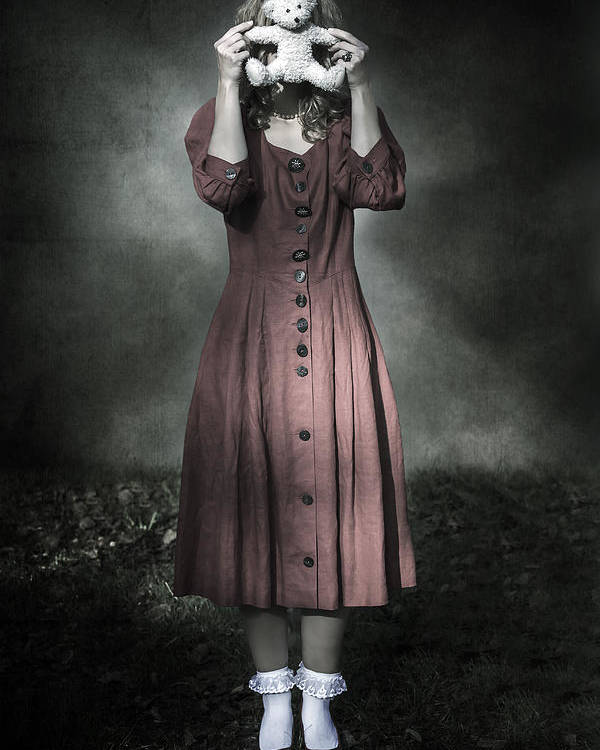 Woman Poster featuring the photograph Woman And Teddy by Joana Kruse