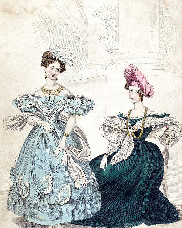 1833 Poster featuring the photograph Womens Fashion, 1833 by Granger