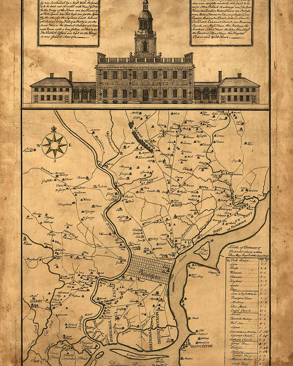 1752 philadelphia map poster by bill cannon 1752 philadelphia map poster featuring the photograph 1752 philadelphia map by bill cannon freerunsca Gallery
