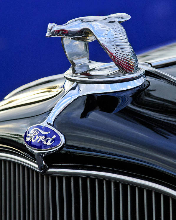 1932 Ford V8 Poster featuring the photograph 1932 Ford V8 Hood Ornament by Jill Reger
