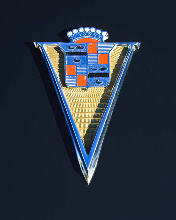 1940 Cadillac Emblem Poster featuring the photograph 1940 Cadillac Emblem by Jill Reger