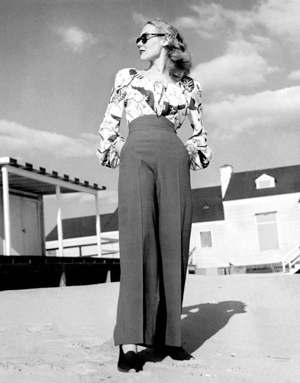 1940s Fashion Poster featuring the photograph 1940s Fashion A Peasant Top by Everett