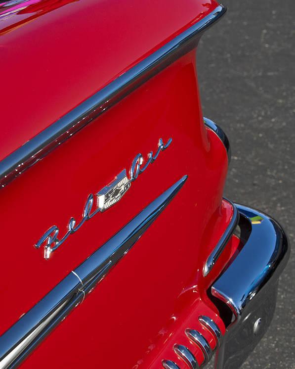 1958 Chevrolet Belair Emblem 2 Poster By Jill Reger