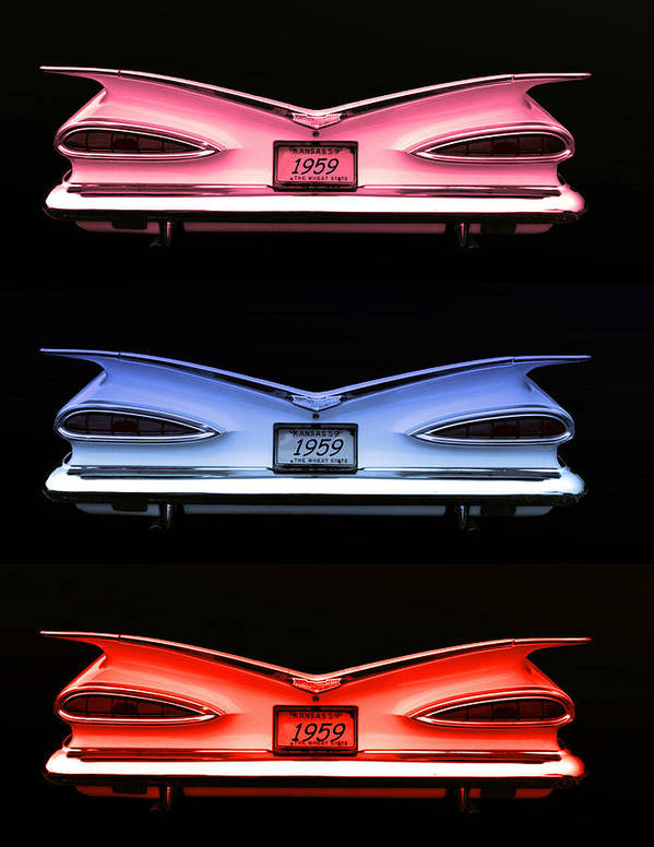 1959 Poster featuring the photograph 1959 Chevrolet Eyebrow Tail Lights by Tim McCullough