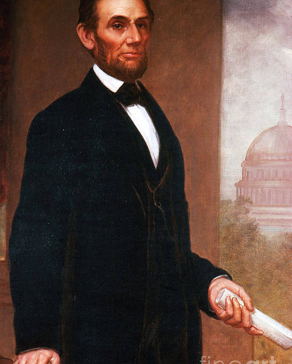 History Poster featuring the photograph Abraham Lincoln, 16th American President by Photo Researchers