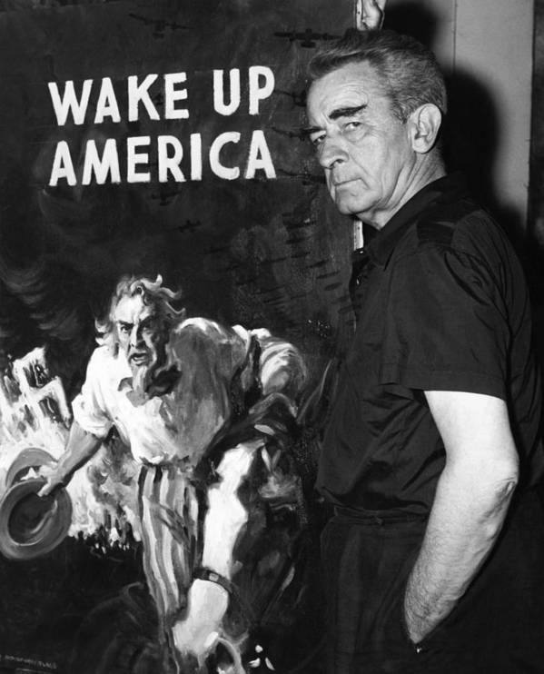 Art Poster featuring the photograph American Artist And Cartoonist James by Everett