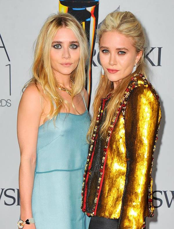 Ashley Olsen (l) Poster featuring the photograph Ashley Olsen Wearing The Row, Mary-kate by Everett