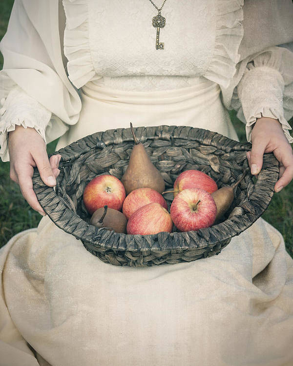 Woman Poster featuring the photograph Basket With Fruits by Joana Kruse