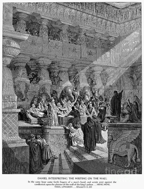 Ancient Poster featuring the photograph Belshazzars Feast by Granger