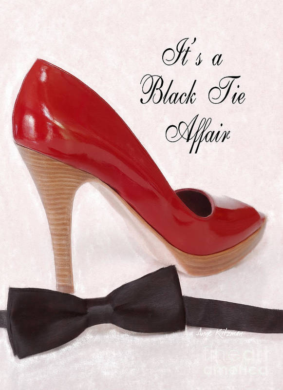 Black Tie Poster featuring the photograph Black Tie Affair by Anne Kitzman