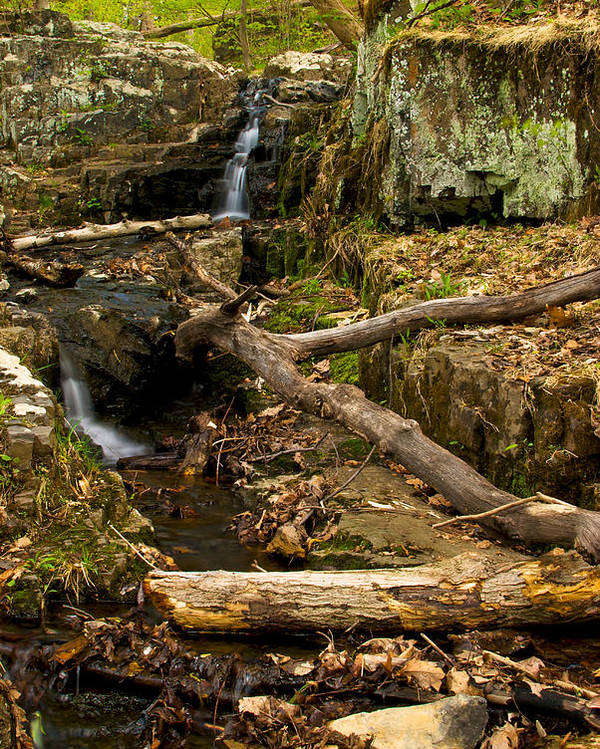 Buttermilk Poster featuring the photograph Buttermilk Falls by Mike Horvath