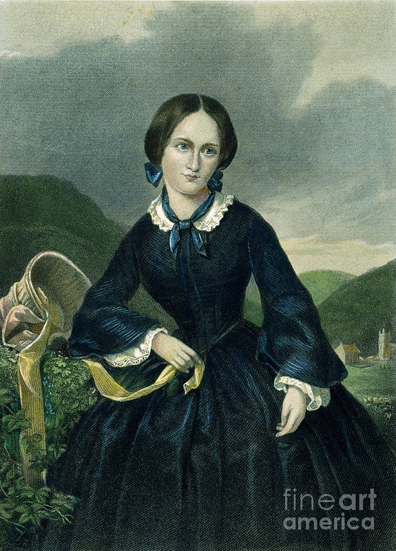 19th Century Poster featuring the photograph Charlotte Bront� by Granger
