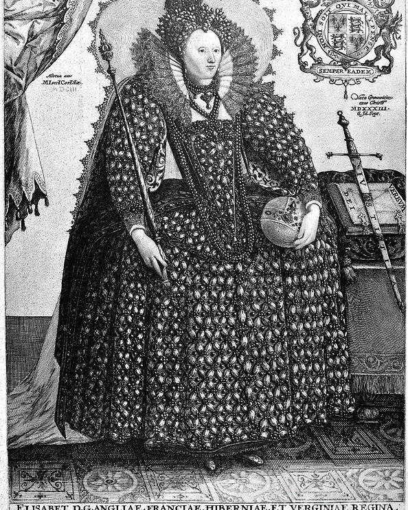 1560s Poster featuring the photograph Elizabeth I (1533-1603) by Granger