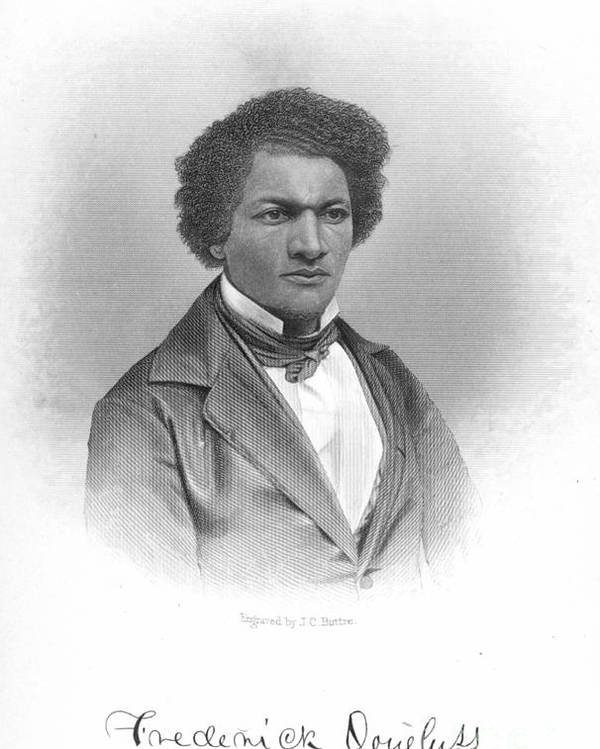 19th Century Poster featuring the photograph Frederick Douglass by Granger
